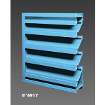 "Construction Specialties - 6"" 6917 Operating Louvers"