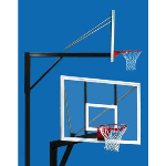 Douglas Industries, Inc. - Super Six Basketball System -Pole & Extension (for surface mount installation)