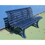 Douglas Industries, Inc. - 5' Deluxe Courtsider , Blue Bench