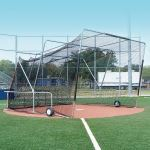 Douglas Industries, Inc. - Portable Backstop, Foldable, 16.5'W x 16.5'D x 11'H (Open)