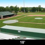 Douglas Industries, Inc. - 18' Diameter Pitcher's Mound Cover, Silver/White