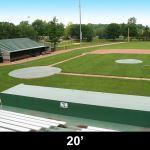 Douglas Industries, Inc. - 20' Diameter Pitcher's Mound Cover, Silver/White