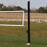 "Douglas Industries, Inc. - VBS-4 SQ Outdoor Power Volleyball System, 4"" SQ Aluminum, Black"