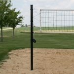 "Douglas Industries, Inc. - VBS-3 SQ Outdoor Power Volleyball System, 3"" SQ Steel, Black"
