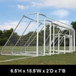 "Douglas Industries, Inc. - CLUB Portable Soccer Goals, 3"" Round Aluminum, 6.5'H x 18.5'W with 4mm Nets"