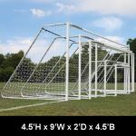 "Douglas Industries, Inc. - CLUB Portable Soccer Goals, 3"" Round Aluminum, 4.5'H x 9'W with 4mm Nets"