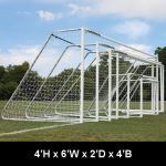 "Douglas Industries, Inc. - CLUB Portable Soccer Goals, 3"" Round Aluminum, 4'H x 6'W with 4mm Nets"