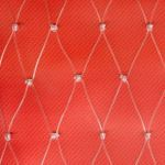 "Douglas Industries, Inc. - Clear Monofilament Netting 1-3/4"" SQ Mesh with Rope Border"