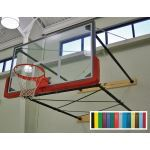 Douglas Industries, Inc. - Indoor Wall Mount Basketball System with Glass Backboard
