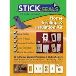 Battic Door Attic Access Solutions - Stick N Seal Gaskets For Use With Your Switch and Outlet Plates