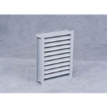"Reliable Architectural Louvers & Grilles - 3"" Deep Aluminum Drainable Sightproof Louver: 3RCH"