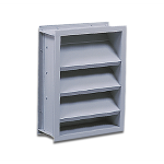 "Reliable Architectural Louvers & Grilles - 12"" Deep Stationary Acoustical Louver: 645RAAB"