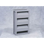 Reliable Architectural Louvers & Grilles - Stationary Acoustical Louver: 845RAAZ