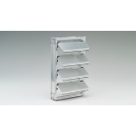 Reliable Architectural Louvers & Grilles - Aluminum Gravity Backdraft Damper: 2BDF