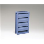 Reliable Architectural Louvers & Grilles - Stationary Acoustical Louver: 645RAAZ