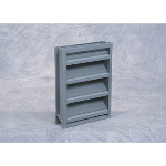 "Reliable Architectural Louvers & Grilles - 4"" Deep Aluminum Stationary Louver: 4375D125"