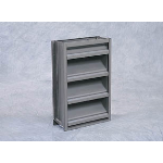 "Reliable Architectural Louvers & Grilles - 6"" Deep Aluminum Stationary Louver: 6375D125"