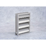 "Reliable Architectural Louvers & Grilles - 4"" Deep Aluminum Stationary Louver: 4375Z125"