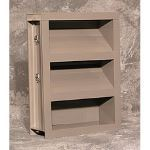 Reliable Architectural Louvers & Grilles - Automatic Intake Dual Combination Louver Damper: 445RBID