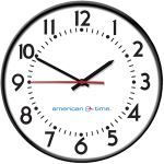 American Time - Wi-Fi Steel Case Electric Clocks