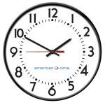 American Time - Custom Logo Wireless Steel Case Battery Analog Clocks