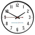 American Time - Large Wireless Steel Case Electric Analog Clocks
