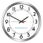 American Time - Wireless Aluminum Case Battery Analog Clocks