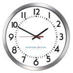 American Time - Wireless Aluminum Case Battery Analog Clocks