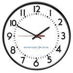 American Time - Wireless Steel Case Electric Analog Clocks