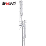UPNOVR, Inc. - Roof Access Ladder with Intermediate Platform – U-390