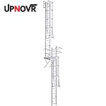UPNOVR, Inc. - Roof Access Ladder with Intermediate Platform – U-390