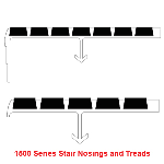 UPNOVR, Inc. - ULTRA 1500 Series Safety Nosings - New Concrete