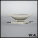 Planters Unlimited - Verano Fiberglass Planter on Pedestal
