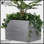 Planters Unlimited - Baxter Fiberglass Rectangular Planter