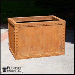 Planters Unlimited - Hughes Riveted Fiberglass Rectangular Planter