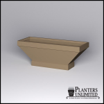 Planters Unlimited - Knox Fiberglass Tapered Rectangle Planter