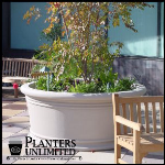 Planters Unlimited - Round Fiberglass Planters & Circular Planters