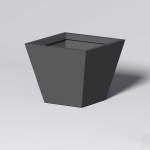Planters Unlimited - Modern Square Tapered Cast Stone Planters