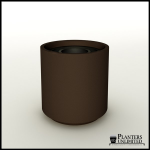 Planters Unlimited - Capri Round Fiberglass Trash Receptacle for Commercial Use