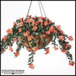 Planters Unlimited - Impatiens in 22in Hanging Basket, Outdoor Rated