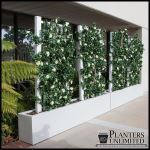 Planters Unlimited - Azalea Trellis Space Divider in Fiberglass Planter 36in.L x 12in.W x 72in.H, Outdoor Rated
