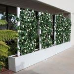 Planters Unlimited - Azalea Trellis Space Divider in Fiberglass Planter 72in.L x 12in.W x 72in.H, Outdoor Rated