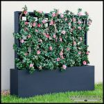 Planters Unlimited - Populated Trellises & Space Dividers in Fiberglass Planters