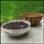 "Planters Unlimited - 22""-24"" Fiberglass Hanging Basket Insert"