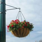 Planters Unlimited - One-Way Scroll Arm Lamp Post Bracket