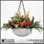 "Planters Unlimited - 21"" Aluminum Hanging Basket"