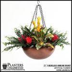 "Planters Unlimited - 21"" Copper Hanging Basket"