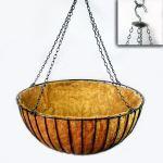 "Planters Unlimited - 36in. XL ""Mega"" Hanging Flower Basket, Commercial Strength - includes Coconut Coir Liner & Heavy Dut"