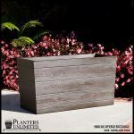 Planters Unlimited - Madera Tapered Rectangular Fiberglass Planters