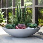 Planters Unlimited - Modern Low Bowl Fiberglass Planters